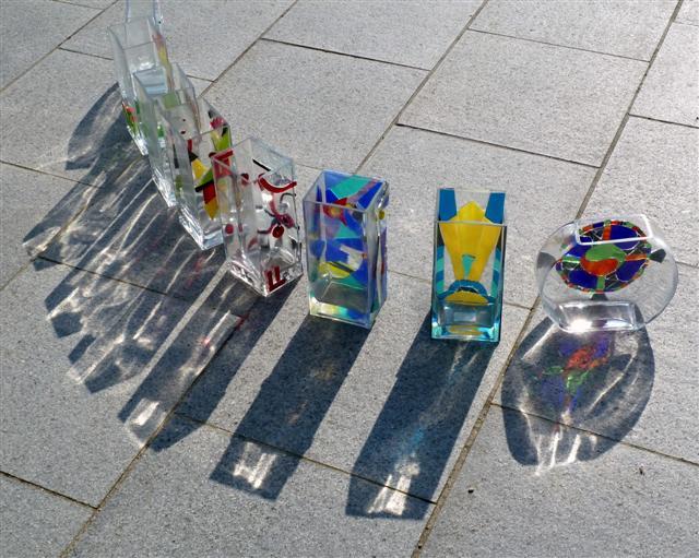 reflets des vases