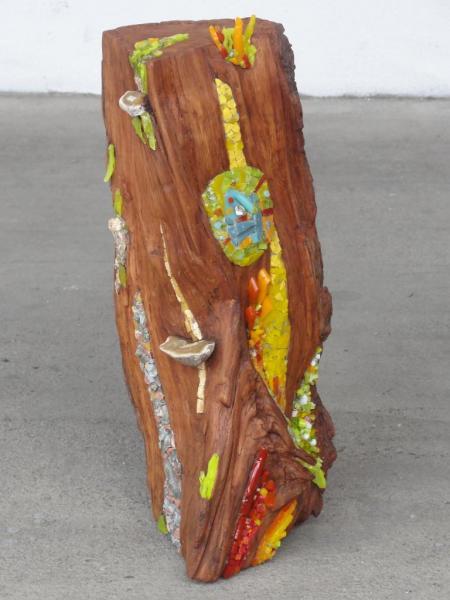 Mosaïque sur bois - Olga Choquel