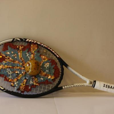 Smash au tennis - Christiane Creusot
